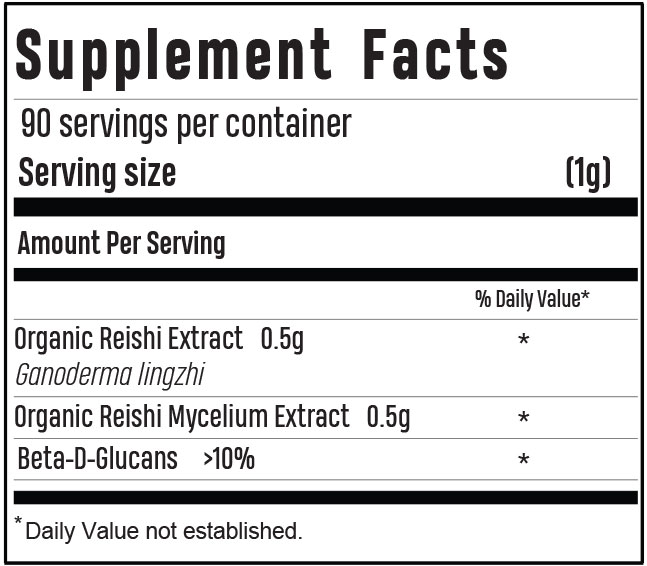 Reishi Supplement Facts